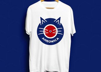 Ameowica T-Shirt Design for Commercial Use