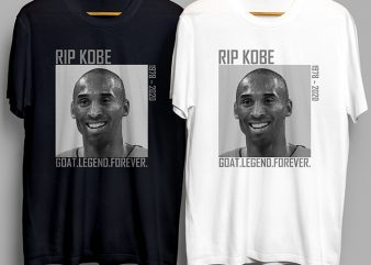 Kobe Bryant Goat Legend Forever 1978 – 2020 t-shirt design png