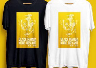 Black Mamba Kobe Bryant 1978 – 2020 Commercial Use design for t shirt