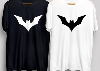 Batman Super Hero T-Shirt Design for Commercial Use