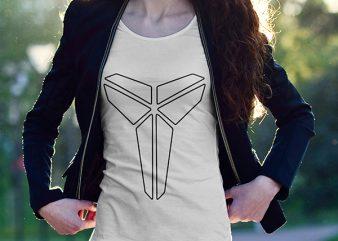 Kobe Bryant Black Mamba T-Shirt Design