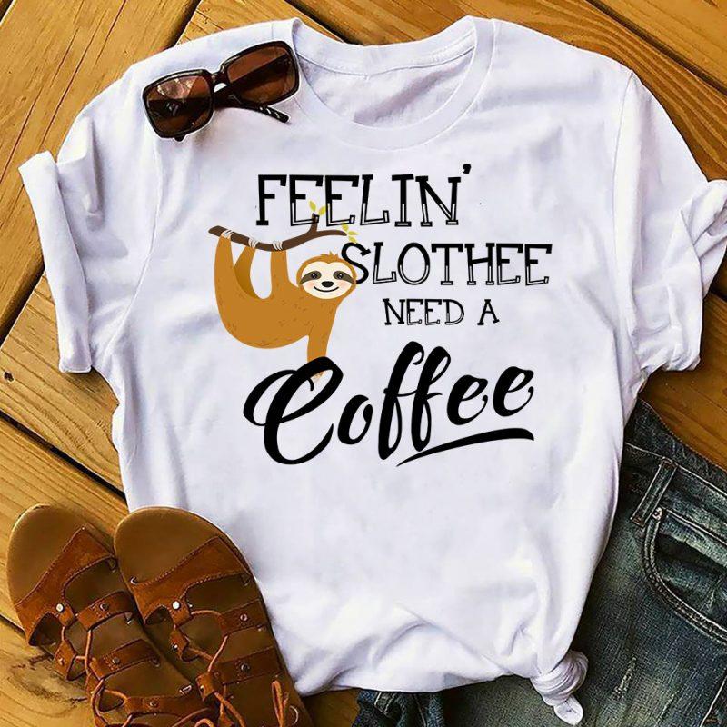 Sloth Bundle Part 1 – 109 Designs – 90% OFF tshirt design for merch by amazon