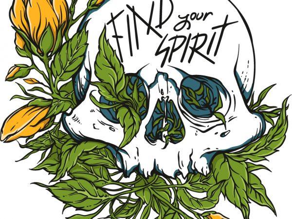 Find your spirit graphic t-shirt design