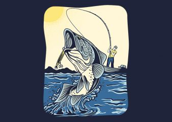 Fish Strike t-shirt design png