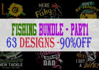 Fishing Bundle Part 1 – 63 Designs – 90% OFF