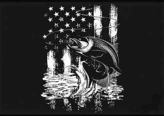 Fishing us graphic t-shirt design