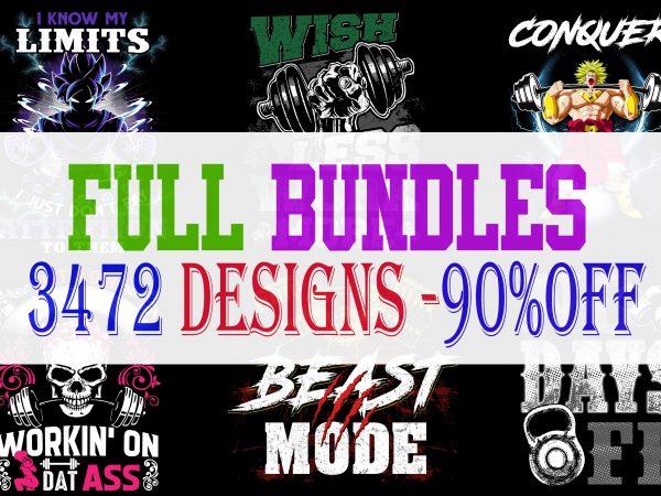 FULL BIG BUNDLE 3472 T-shirt Designs