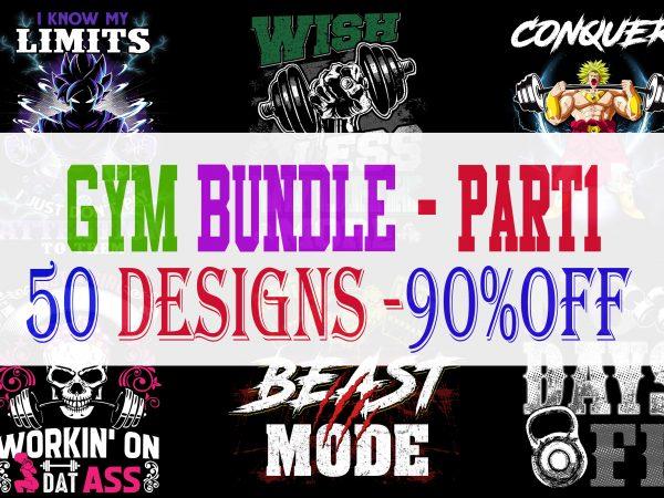 GYM Bundle Part 1 – 50 Designs – 90% OFF