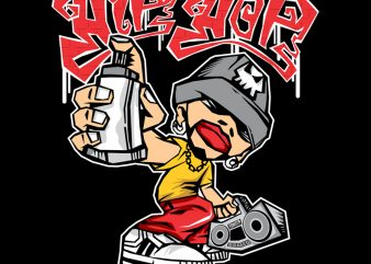 HIP HOP buy t shirt design for commercial use