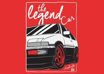 Hachiroku 86 The Legend Car t-shirt design
