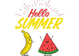 Hello Summer t-shirt design