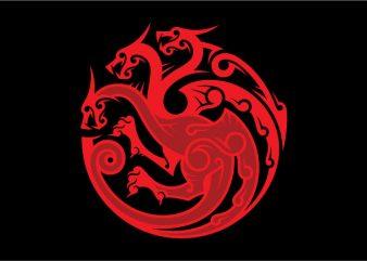 House Targaryen Sigil graphic t-shirt design