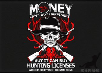 Hunting Happiness buy t shirt design
