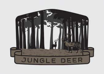 Jungle Deer t shirt design artwork
