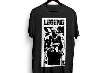 KOBE-Bryant-Legend-graphic-TShirt- SVG – EPS – PNG – JPG – AI ready made tshirt design