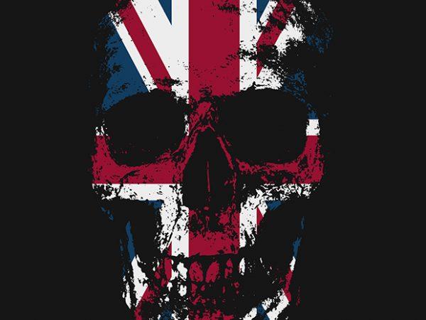 Kingdom Skull commercial use t-shirt design