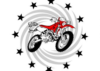 MOTOCROSS STAR t shirt design template