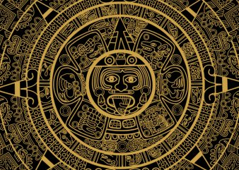 Maya Aztec Calendar graphic t-shirt design