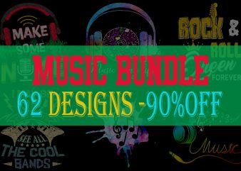 Music Bundle Part 1 – 62 Designs