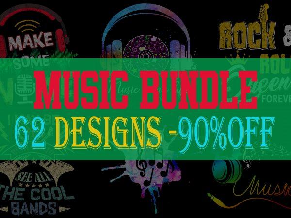 Music Bundle Part 1 – 62 Designs