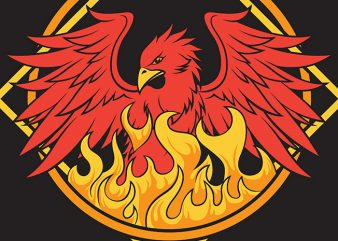 Mystical Phoenix t-shirt design png