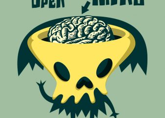OPEN YOUR MIND shirt design png