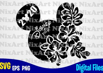 Disney Trip 2020, Mickey mouse, Mickey head, Mickey Ears, Funny Mickey mouse design svg eps, png files for cutting machines and print t shirt designs for sale t-shirt design png