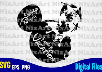 Disney Trip, Family Vacation, Mickey mouse, Mickey head, Mickey Ears, Funny Mickey mouse design svg eps, png files for cutting machines and print t shirt designs for sale t-shirt design png