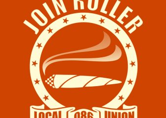 ROLLER t-shirt design for commercial use