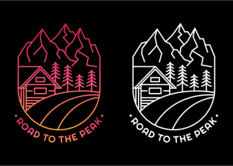 Road to The Peak ready made tshirt design