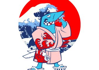 SHARK WARRIOR t-shirt design for commercial use