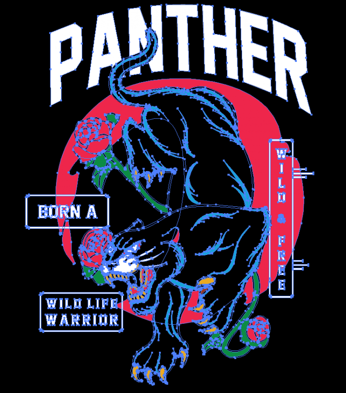 WILD PANTHER – Tshirt design for sale AI, SVG,PNG