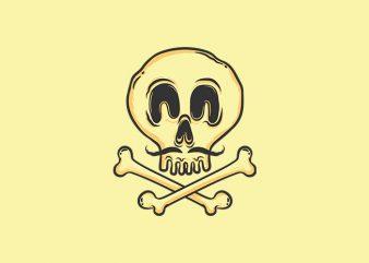 Skull Funny Skull t shirt design for sale