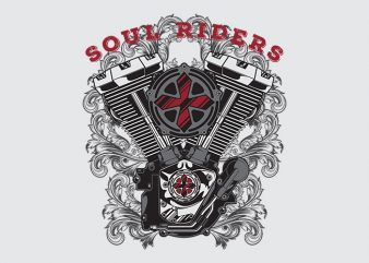 Outlaw Soul Riders graphic t-shirt design