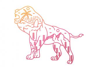 The Adventurous Lion t shirt design for sale