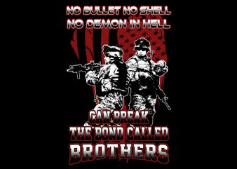 The Brotherhood graphic t-shirt design