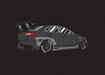 The Darkness of Evo Car t-shirt design for commercial use