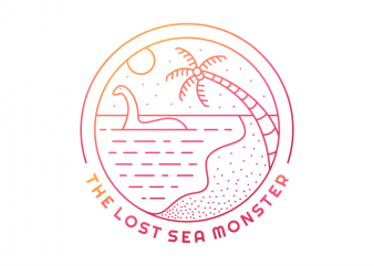 The Lost Sea Monster t-shirt design png