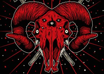The Red Devil Skull ready made tshirt design