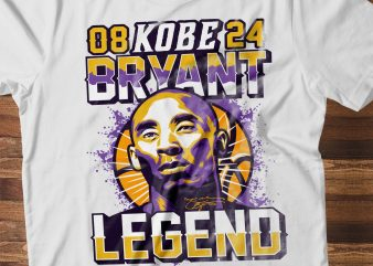 Kobe Bryant illustration shirt design png