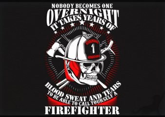 Firefighter design for t shirt
