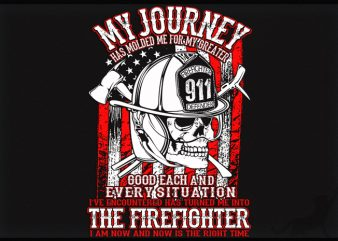 American Firefighter t-shirt design for commercial use