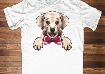 Cute Labrador Retriever Peeking t shirt design to buy