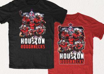 Houston Roughnecks Shirt Design shirt design png