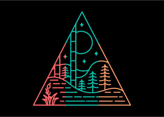 Triangle Forest design for t shirt