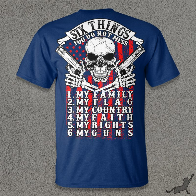 Six Things t shirt design for purchase