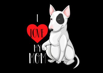 love mom t-shirt design for sale