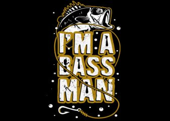bass man ready made tshirt design