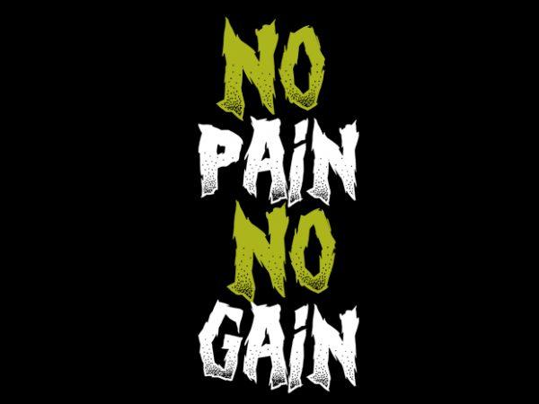 dno pain no gain buy t shirt design artwork