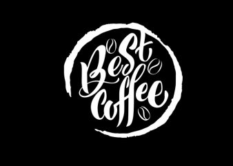 best coffee t-shirt design for commercial use